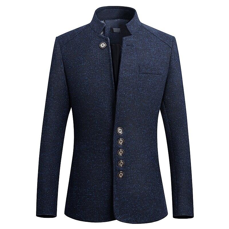 HCXY Blazer Men 2018 spring New Chinese style Business Casual Stand Collar Male Blazer Slim Fit Mens Blazer Jacket Size M 5XL