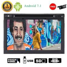 Rear Camera + Android 7.1 GPS Car DVD Player Car Stereo in Dash 2din Autoradio Bluetooth GPS Navigator Headunit WIFI Mirror Link