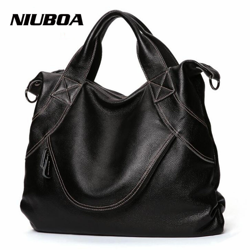 NIUBOA Men Bags 100% Genuine Leather Handbags Men Classic Black Large Business CrossBody Bag Designer Cow Leather Shoulder Bags augus 100% genuine leather laptop bag fashional and classic crossbody bags leather for men large capacity leather bag 7185a