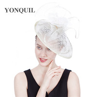 New Fashion Fascinators hats Top quality hair millinery sinamay high grade party girl women wedding derby veils headwear clips