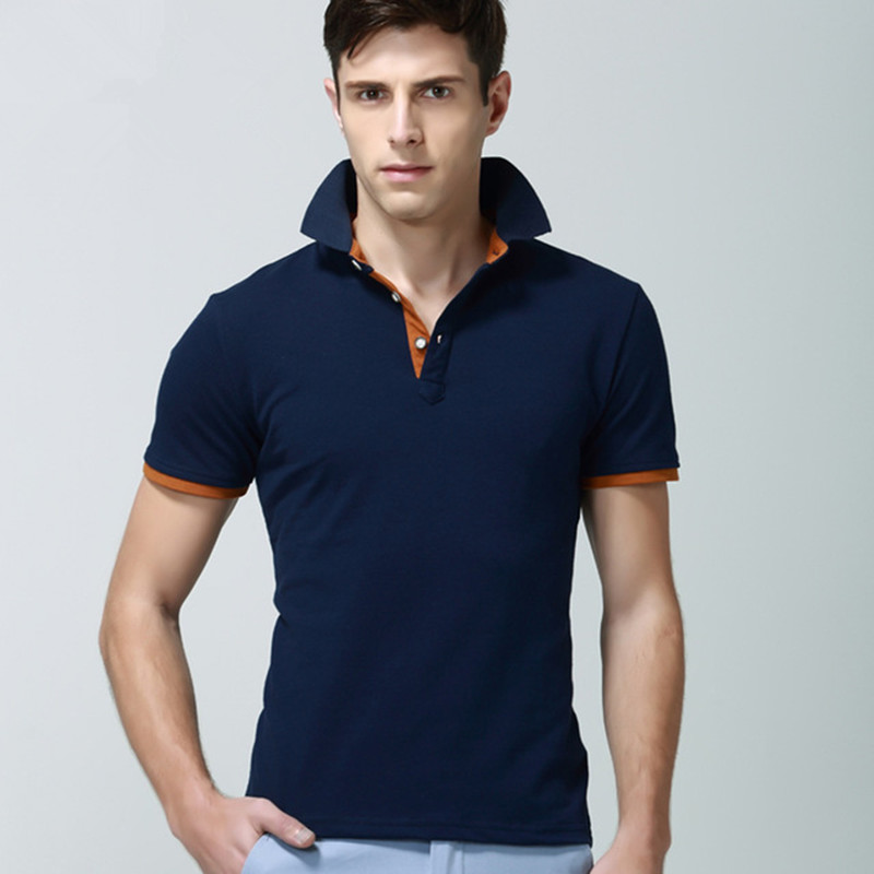 Summer 2016 men polo shirts shorts sleeve cotton tops new for Plus size golf polo shirts