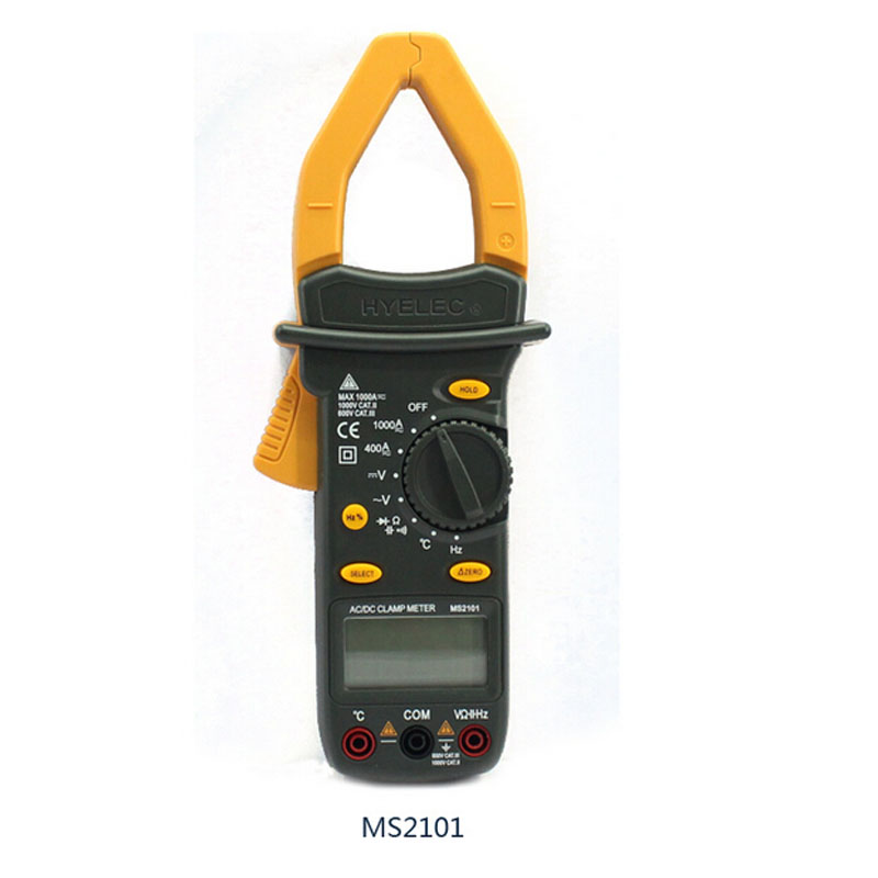 Digital AC DC Clamp Meter Auto Range Current/Voltage/Resistance/Capacitance/Frequency/Temperature Multimeter MS2101 PEAKMETER mastech my68 handheld lcd auto manual range dmm digital multimeter dc ac voltage current ohm capacitance frequency meter