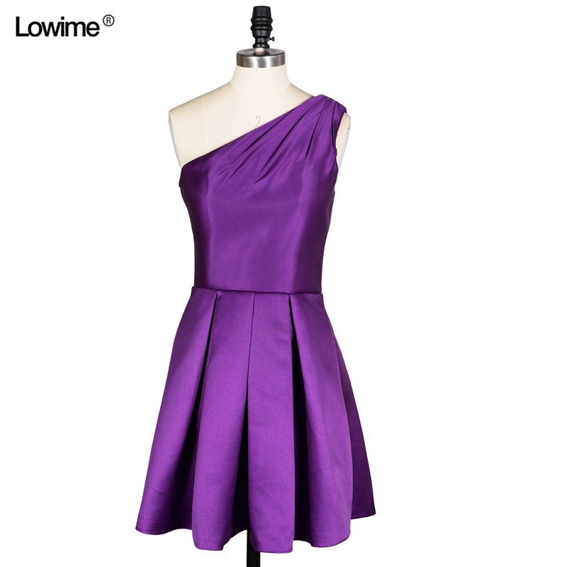 On Sale Wholesale Prom Dresses One Shoulder Celebrity Dresses Robe ...