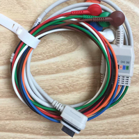 Compatible GE SEER Light Holter monitor 2008594 003 and 004 holter ECG EKG 2 Channel(5 Leads)/3 Channel(7 Leads) cable/leadwires