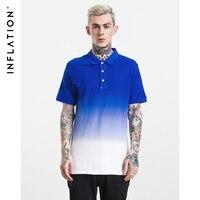 INFLATION 2017 New Summer Diy Tie Dye Men S Classic Tshirt Short Sleeve Turn Down