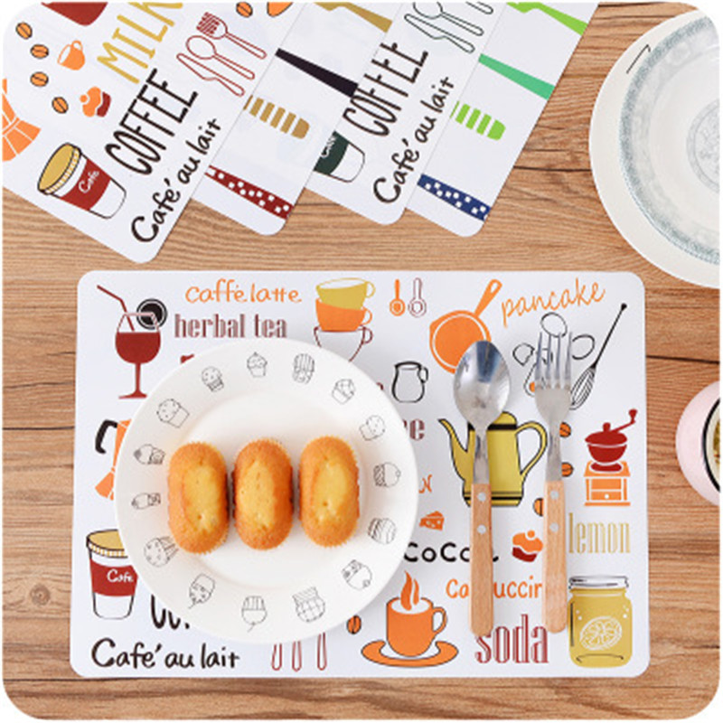 Non-slip Dining Table Placemat Europe Style Kitchen Tool Tableware Pad Coaster Coffee Tea Place Mat Creative Christmas Table Mat