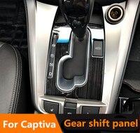 Czarny drut tytanowy rysunek ze stali nierdzewnej dekoracyjne biegów panel obudowa tapicerka dla Chevrolet 2011 ~ 2018 Captiva akcesoria