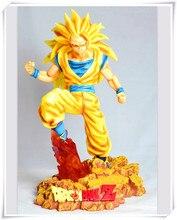 EMS Anime Dragon Ball Z Kakarotto Super Saiyan Sun Goku Super Big PVC Action Figure Collection Model Toy 28cm