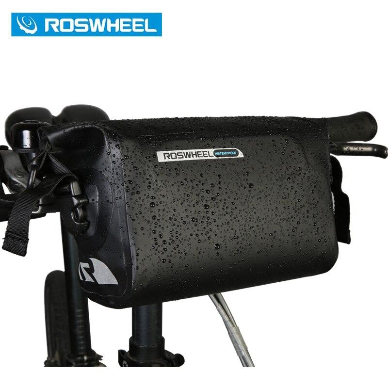 ROSWHEEL DRY 3L Cyklistika Řidítka Přední koš PVC Plně vodotěsné tašky L27 * W9 * H21.5cm 100% Plné vodotěsné tašky