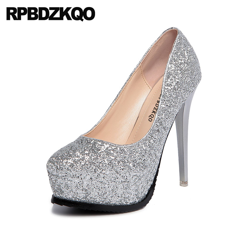 79f7128a1390 Detail Feedback Questions about Pumps 12cm 5 Inch Super Glitter Fetish  White Silver Platform Women Shoes Ultra Stiletto Extreme Catwalk Sparkling  High Heels ...