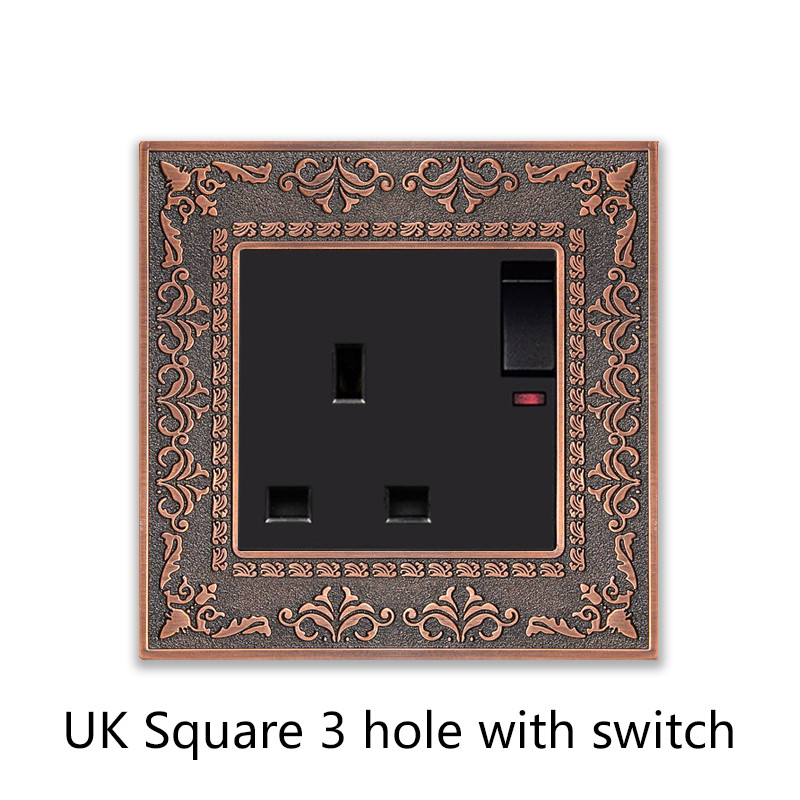 UK Square 3 hole with switch
