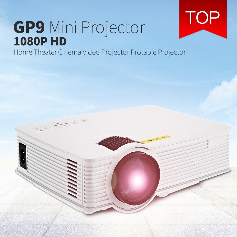 Prix pour GP-9 Mini Home Cinéma 2000 Lumens 1920x1080 Pixels Multimédia Sans Fil HD LCD Projecteur Home Cinéma HDMI/USB/SD/AV/3.5mm