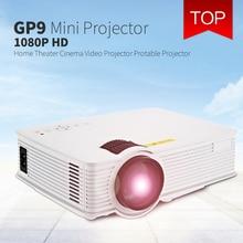 GP9 GP-9 Mini Ev Sineması 2000 Lümen 1920×1080 piksel Multimedya HD LCD Projektör Ev Sinema HDMI/USB/SD/AV VS GP12 GP-12