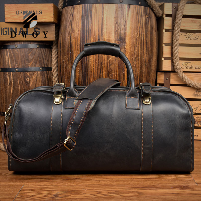Cowhide Genuine Leather Travel Bag ManFashion Casual Men Handbags Cowhide Men Crossbody Bag Duffle Bag Man Bolsa De Viagem