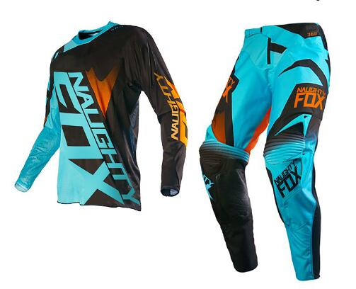 2017 NAUGHTY Fox MX 360 SHIV Motocross Combos Cycling MX off road Racing Gear Motorcycle Dirt Bike Racing Suit