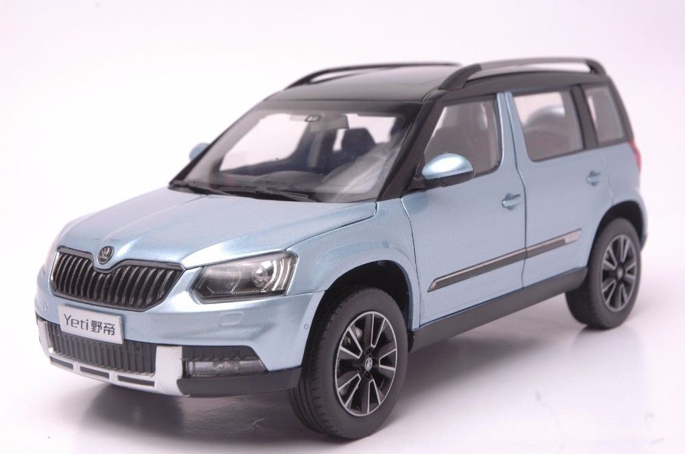 1 18 diecast model for skoda yeti 2015 blue suv alloy toy. Black Bedroom Furniture Sets. Home Design Ideas