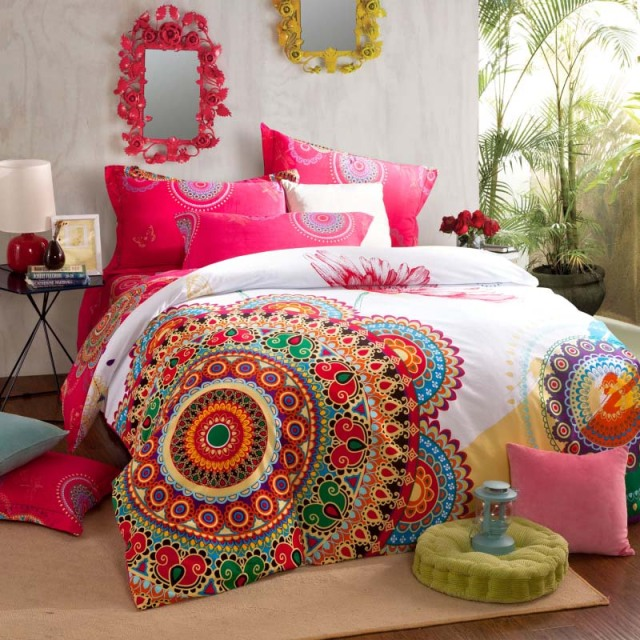 Colorful Bohemian Duvet Cover Set