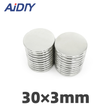 AI DIY 1/5/10/30 Pcs 30mm x 3mm N35 Neodymium Magnets Super Strong Round Powerful  Rare Earth Magnet Craft Fridge Disc 30 *
