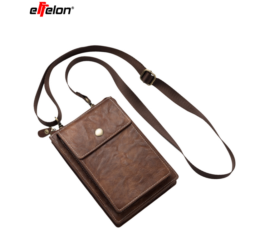 Universal PU Leather Phone Bag Shoulder Pocket Wallet Pouch Case Neck Strap For IPhone 8 7 6s Plus For Samsung S8 S9 Plus/Note8