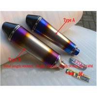 Customized Titanium Alloy Modified Exhaust Motorcycle Pipe Echappement Moto Fz6 Crf 230 Cb400 Er6n Tmax 500
