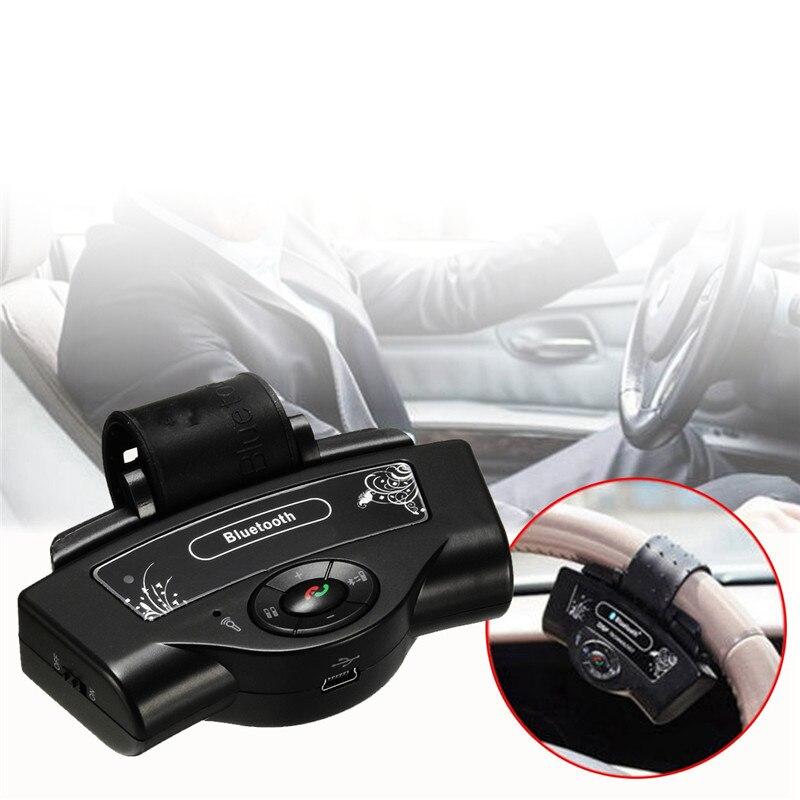 KROAK Steering Wheel Wireless Bluetooth Car Kit Speakerphone Car Speaker Kit For Dual Phone