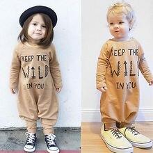 Модный комбинезон с длинными рукавами для новорожденных девочек и мальчиков, комбинезон, одежда, наряды, свободная одежда для малышей, Roupas