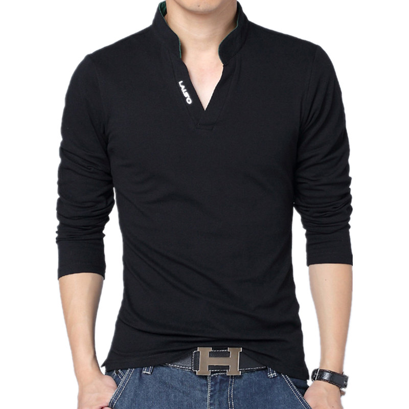 100% Cotton 2018 Spring Summer Brand Clothing Men Clothes T Shirt Long  Sleeve T Shirts Mens Casual T Shirts Camisetas 4XL 5XL-in T-Shirts from  Men s ... 57e0335920a