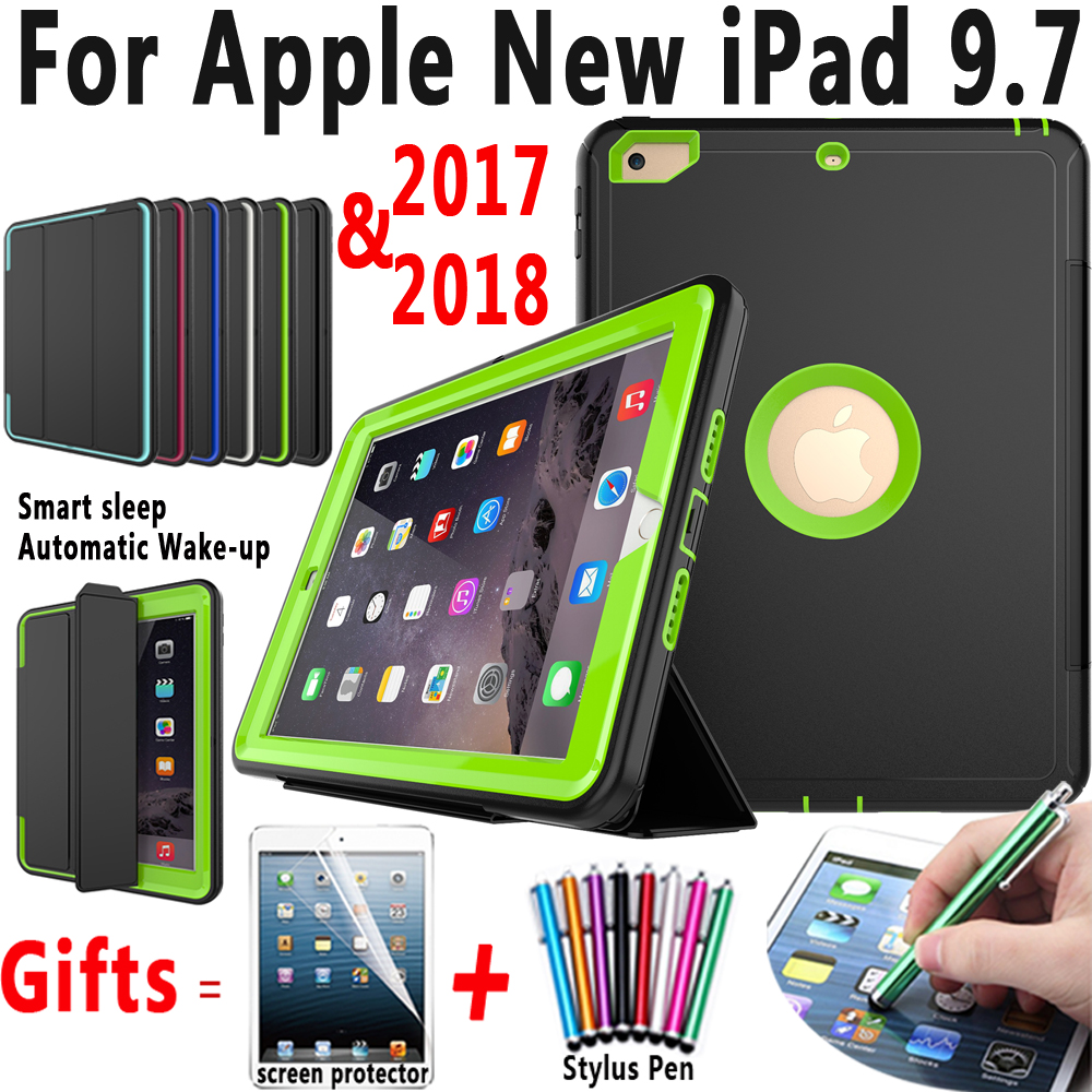 Magnetic Smart Auto Sleep Wakeup Trifold Cover Case for Apple New iPad 9.7 2017 2018 A1822 A1893 Funda Coque Capa Stand Holder