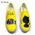 2017 Women's Spring Autumn  Hand-Painted Canvas Shoes Personality Kitten Foot Wrapping Cat Female Male Graffiti Shoes Best Match