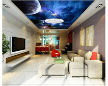 beibehang Classic papel de parede 3d wallpaper stereoscopic star sky ceiling wall painting paper