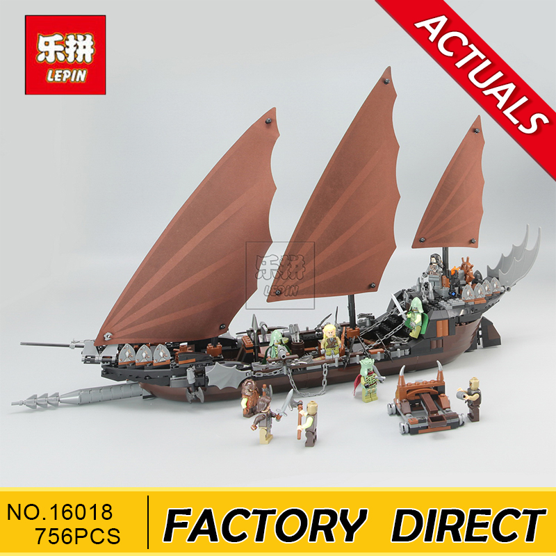 Lepin 16018 Genuine The lord of rings Series The Ghost Pirate Ship Set Building Block Brick Toys 79008 lepin building blocks genuine the lord of rings series the ghost pirate ship set bricks toys 79008 boat model kids gifts 16018