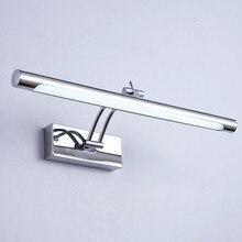 LED Mirror Light Waterproof 5W/40CM 7W/46CM 12W/55CM AC90 260V Modern Cosmetic Acrylic Wall Lamp Bathroom Lighting Adjustable