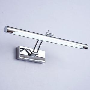 Image 1 - Lampa LED nad lustro wodoodporna 5W/40CM 7W/46CM 12W/55CM AC90 260V nowoczesne kosmetyczne akrylowa lampa ścienna oświetlenie łazienki regulowany