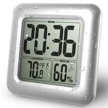Таймеры lcd цифровые водонепроницаемые для брызг воды настенные часы для ванной с присоской мыть часы для душа Таймер Температура Влажность