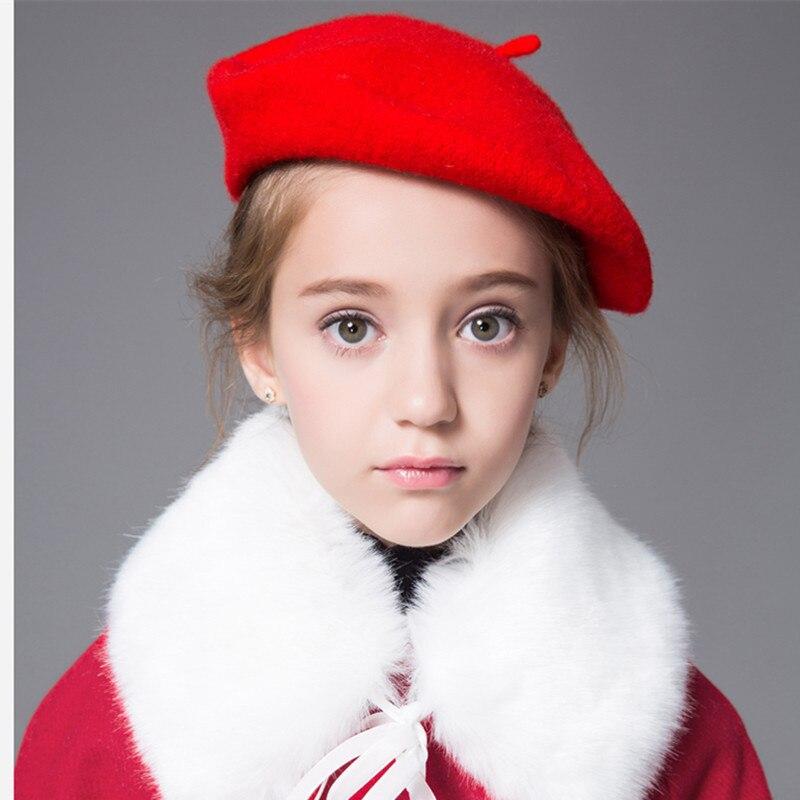 Baby Kids Girl Boy Berretto Cappello Bambino Bambino Woolen Winter artista francese CAP HAT