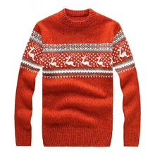 New Mens Ugly Christmas Sweater Multicolor Fashion Wool Cowl