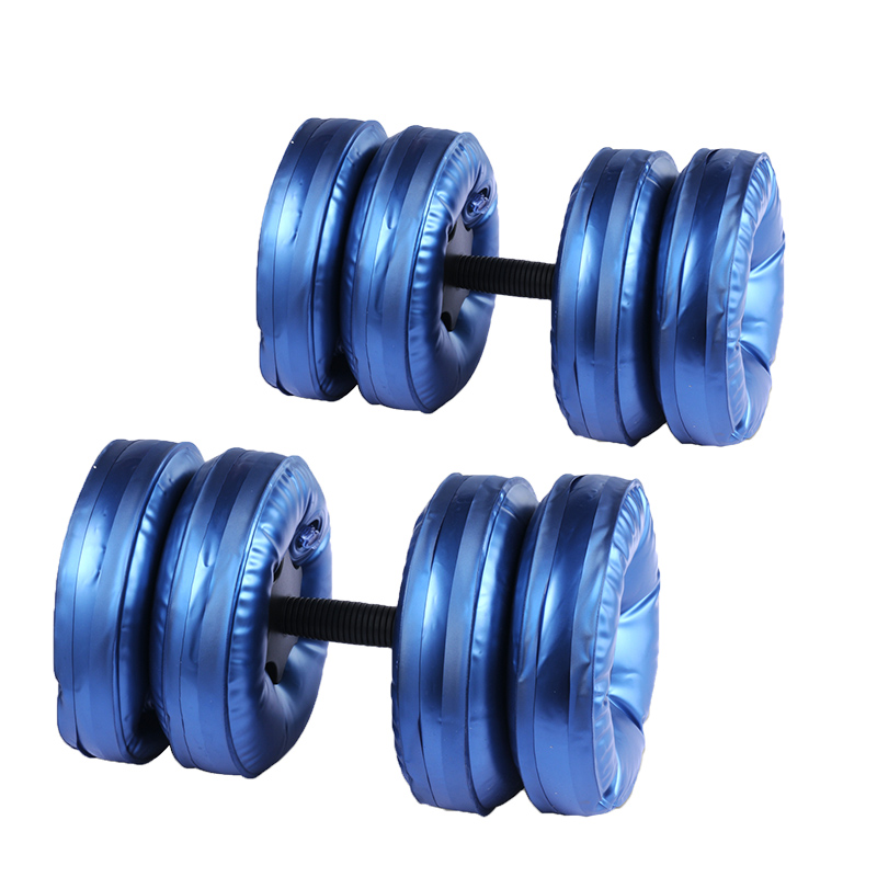 ФОТО Hot selling Portable Plastic Water Dumbbell Fitness Gym And Bodybuilding Equitment High Quality