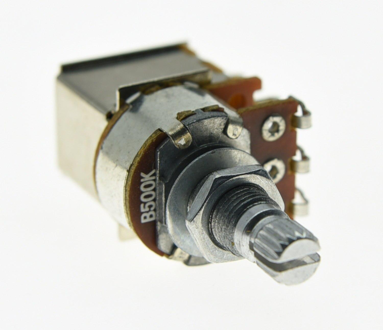 KAISH 500 k Guitare Push Pull Linéaire POTS de Split Shaft Potentiomètres B500K