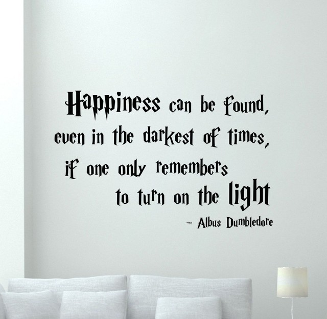 harry potter quotations happiness can be foud vinyl quote decals