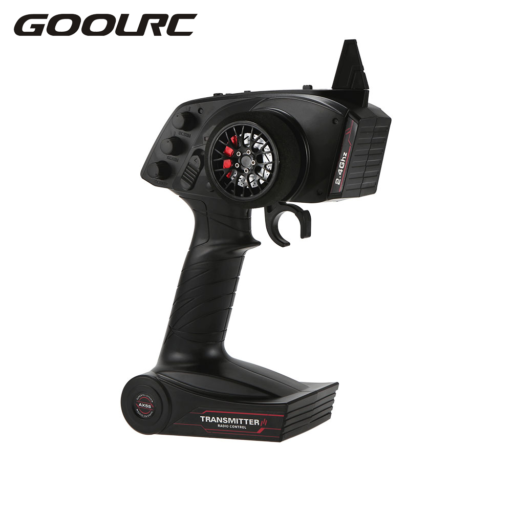 GOOLRC Brand AX5S 2.4G 3CH AFHS Radio RC Transmitter with Receiver Super Active Passive Anti-jamming for RC Car Boat goolrc brand ax5s 2 4g 3ch afhs radio rc transmitter with receiver super active passive anti jamming for rc car boat