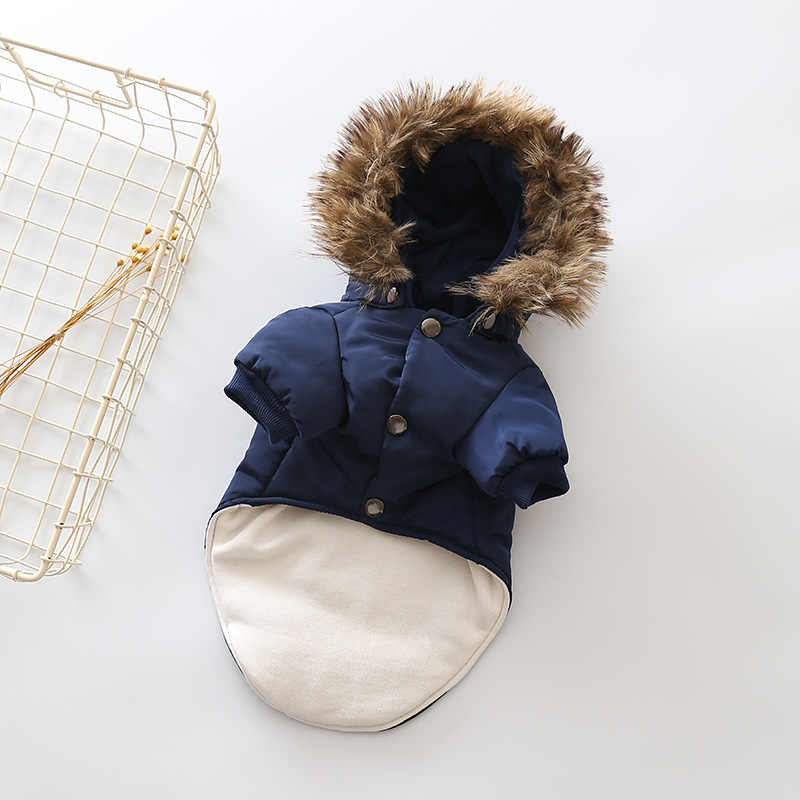 Meilleure vente hiver chien vêtements chaud vers le bas veste manteau XS-XXL à capuche pour Chihuahua petit moyen chiens chiot