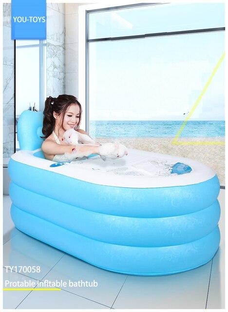 Portable baignoire 135 82 73 cm taille du support gonflable baignoire enfant baignoire coussin - Baignoire gonflable enfant ...
