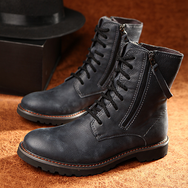Men S Boots Mid Calf Fashion Motorcycle Riding Equestrian Work