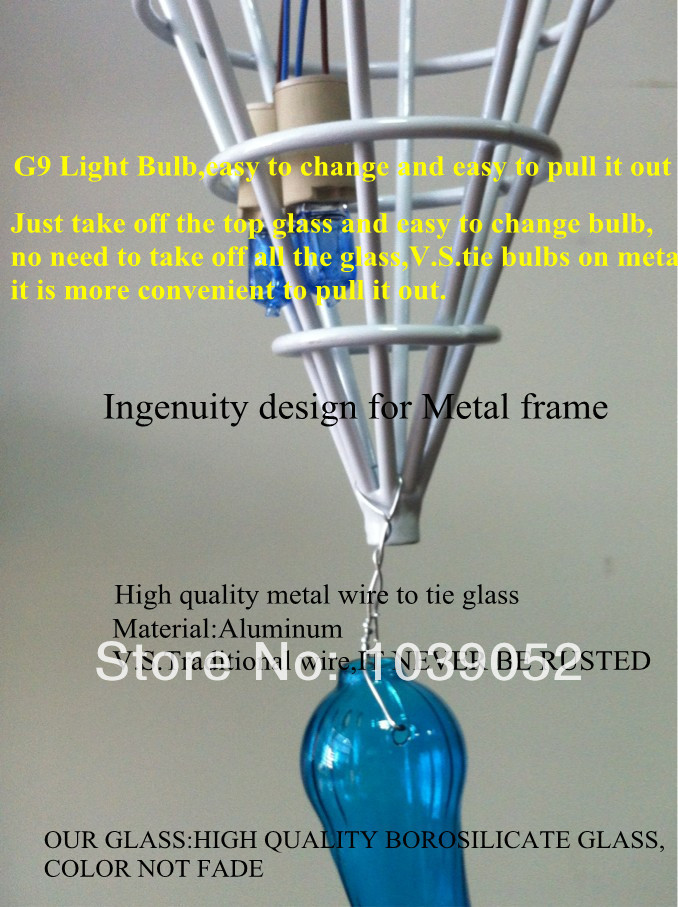 Free Shipping New Fashionable Art Deco Murano Stair Pendant Lamp in Chandeliers from Lights Lighting