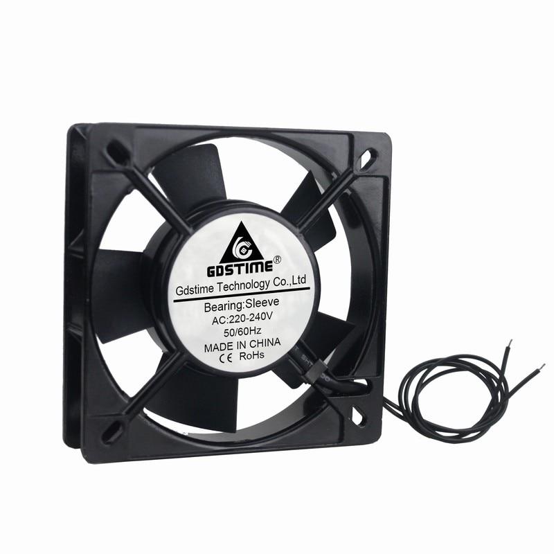 5 Pieces Gdstime 11025s 110 110 25mm AC 220V 240V 2 Wire Sleeve Cooling Cooler Fan