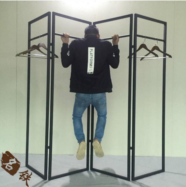 Women 39 s clothing shelf screen frame island contracted floor type shelf in Storage Holders amp Racks from Home amp Garden