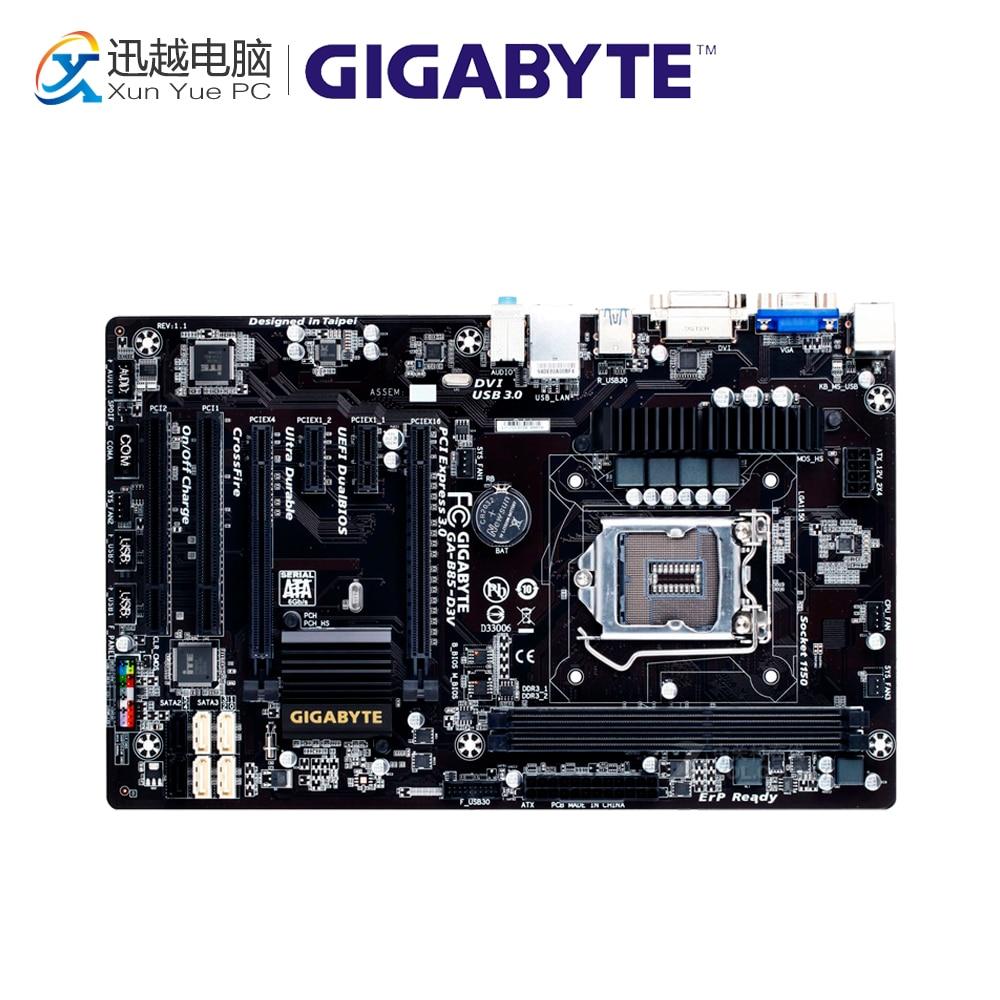 Gigabyte GA-B85-D3V Desktop Motherboard B85-D3V B85 LGA 1150 i3 i5 i7 DDR3 16G ATX On Sale gigabyte ga b85m d3v a original used desktop motherboard b85m d3v a b85 lga 1150 i3 i5 i7 ddr3 16g micro atx