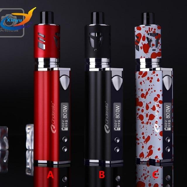 Mini kit de LED Original 80 w kit de cigarette électronique 2200 mah batterie liquide e-cigarettes vaporisateur stylo 3.5 ml atomiseur narguilé kit