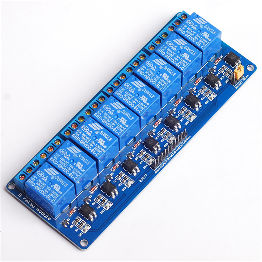 Direct manufacturers with light coupling 8-way relay module of PLC relay control board 5V 8-way relay module( optional 12V/24V)