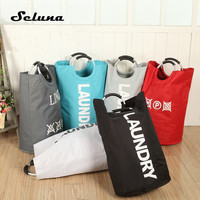 Seluna Multi function Dirty Clothes Storage Bag Foldable 600D Oxford Laundry Basket Hold Dirty Clothes Basket Finishing Dust Bag